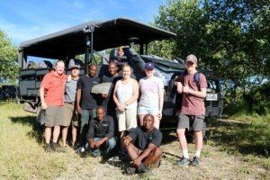 gannon family safari mobile with crew