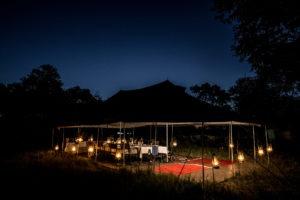 golden africa safaris dinner night scape