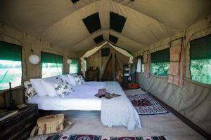 golden africa safaris tent bedroom