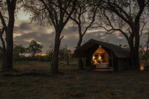 golden africa safaris tent night