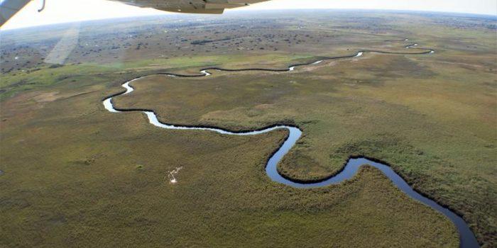 maun okavango delta scenic flight botswana