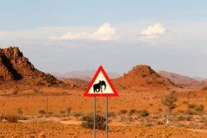 namibia sign desert