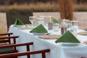 nkozi camp south luangwa dining table
