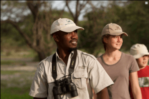 okavango delta guide walking safari
