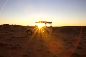 southern namibia fish river canyon sunset land rover