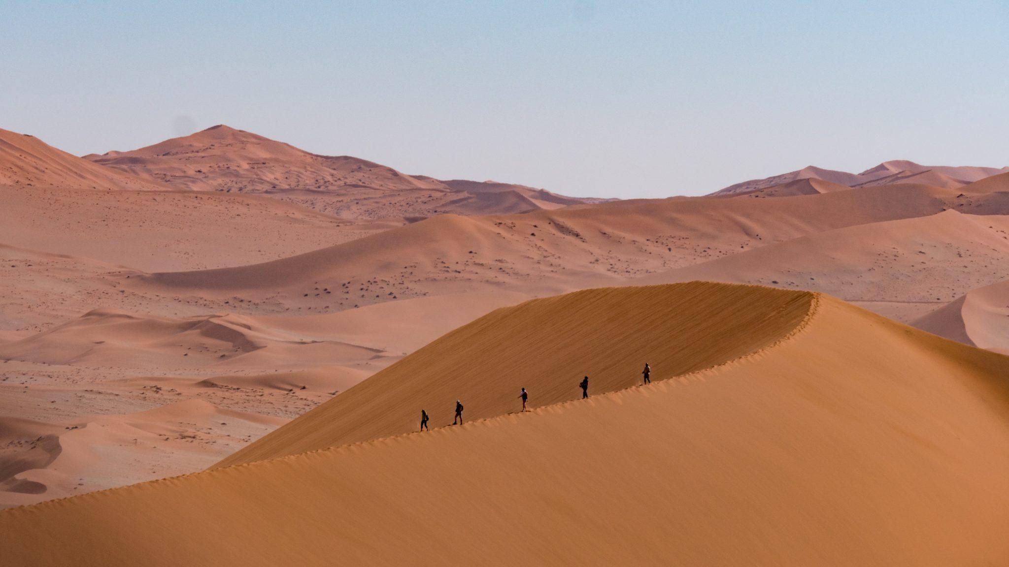 southern namibia sossusvlei hike dunes