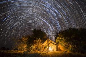 west zambia kafue Mukambi Plains Camp tent under stars