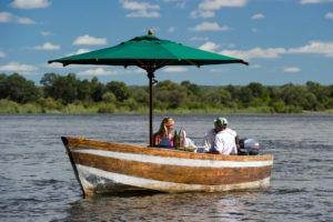 zambia livingstone romantic lunch boating safari