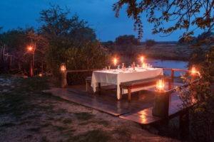 zambia livingstone sinabezi dining romantic setting