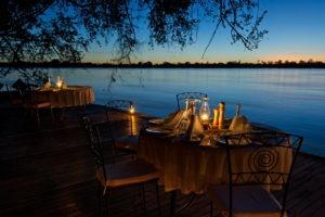 zambia livingstone tongabezi main lodge views dinner