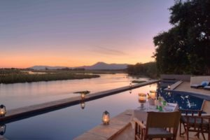 zambia lower zambezi sausage tree camp pool