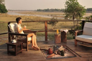zambia south luangwa walking safari coffee by fire