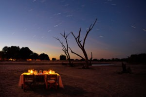 zambia south luangwa walking safari dining under stars