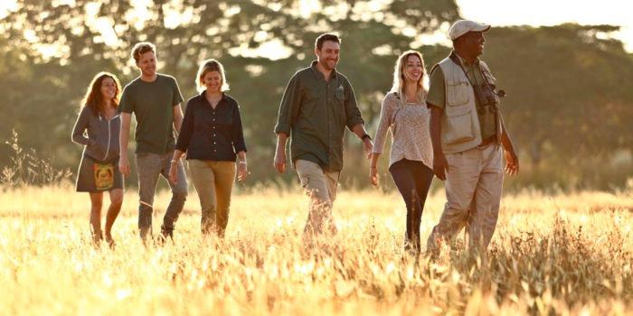 zambia south luangwa walking safari group photo