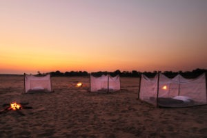 zambia south luangwa walking safari sleepout at sunset