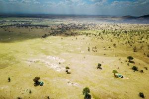 kogatende camp tanzania aerial