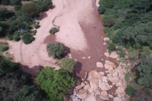 manyara green camp tanzania aerial river
