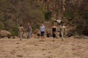 manyara green camp tanzania guests river bed