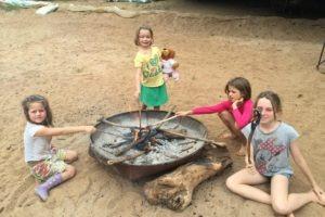 manyara green camp tanzania kids fire