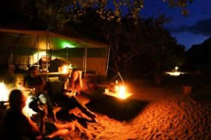 manyara green camp tanzania night