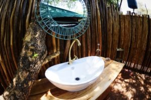 manyara green camp tanzania sink