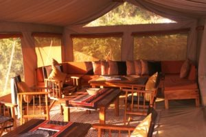 mysigio camp tanzania lounge area