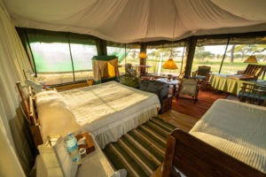 corfield camp tarangire tent view