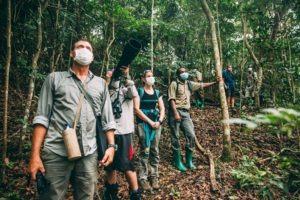 greystoke mahale guests trekking