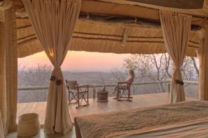 ikuka camp ruaha bed view