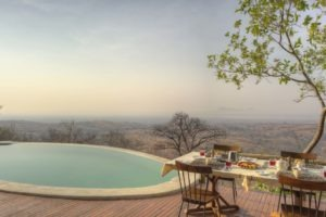 ikuka camp ruaha breakfast view