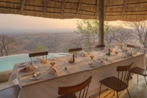 ikuka camp ruaha dining table