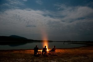 sand rivers selous fly camping fire