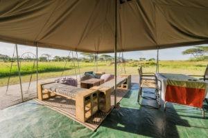 wayo walking camp serengeti dining tent