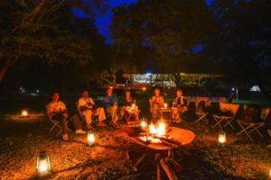 bakers lodge uganda guests fireplace
