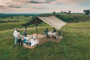 ishasha wilderness camp uganda bush breakfast