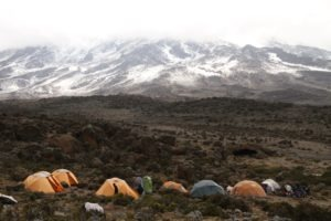kilimanjaro climbing camp setting
