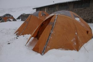 kilimanjaro climbing tents snow