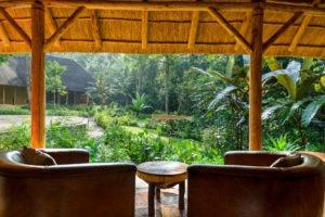 primate lodge kibale lounge view