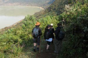 rift valley trekking tanzania crater