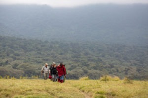 rift valley trekking tanzania group walking