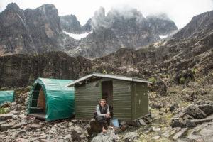 rwenzori trekking uganda hut 1
