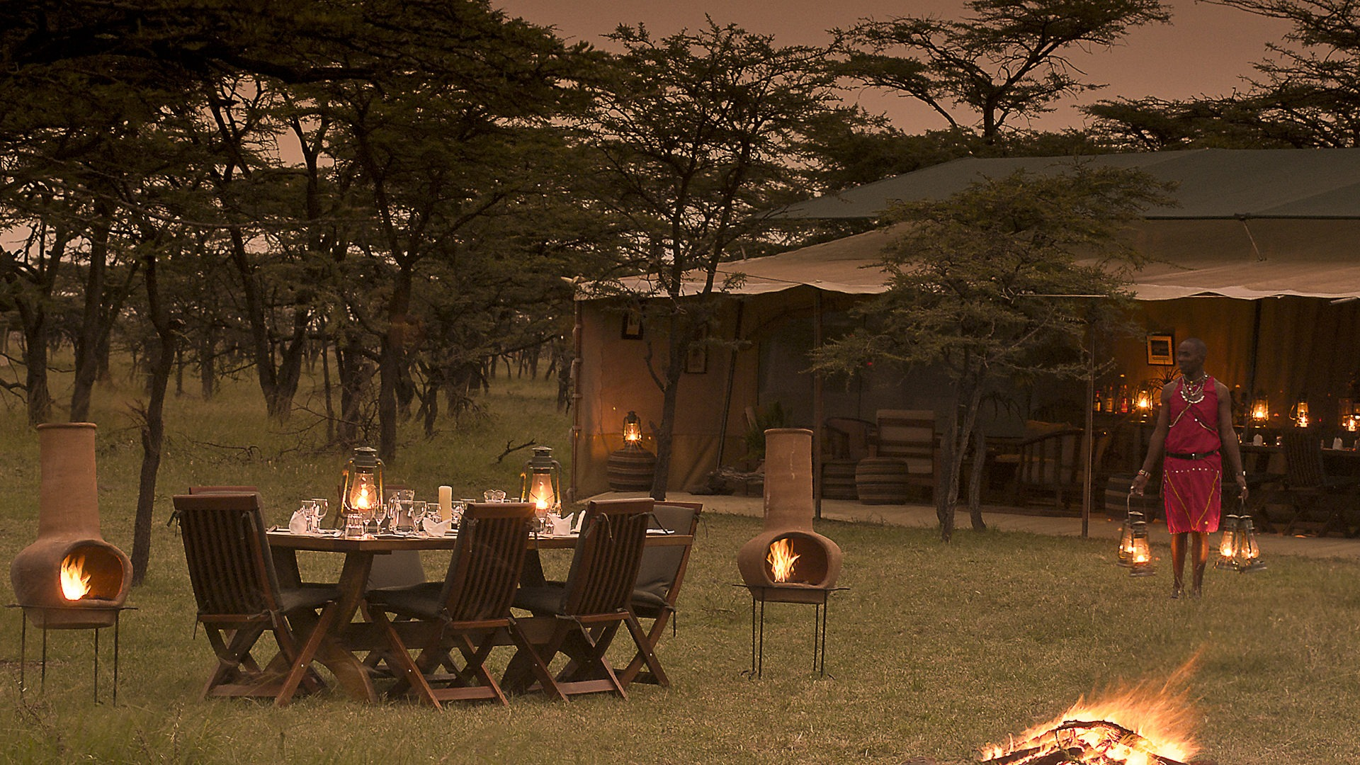 16. Kicheche Bush Camp al fresco dining