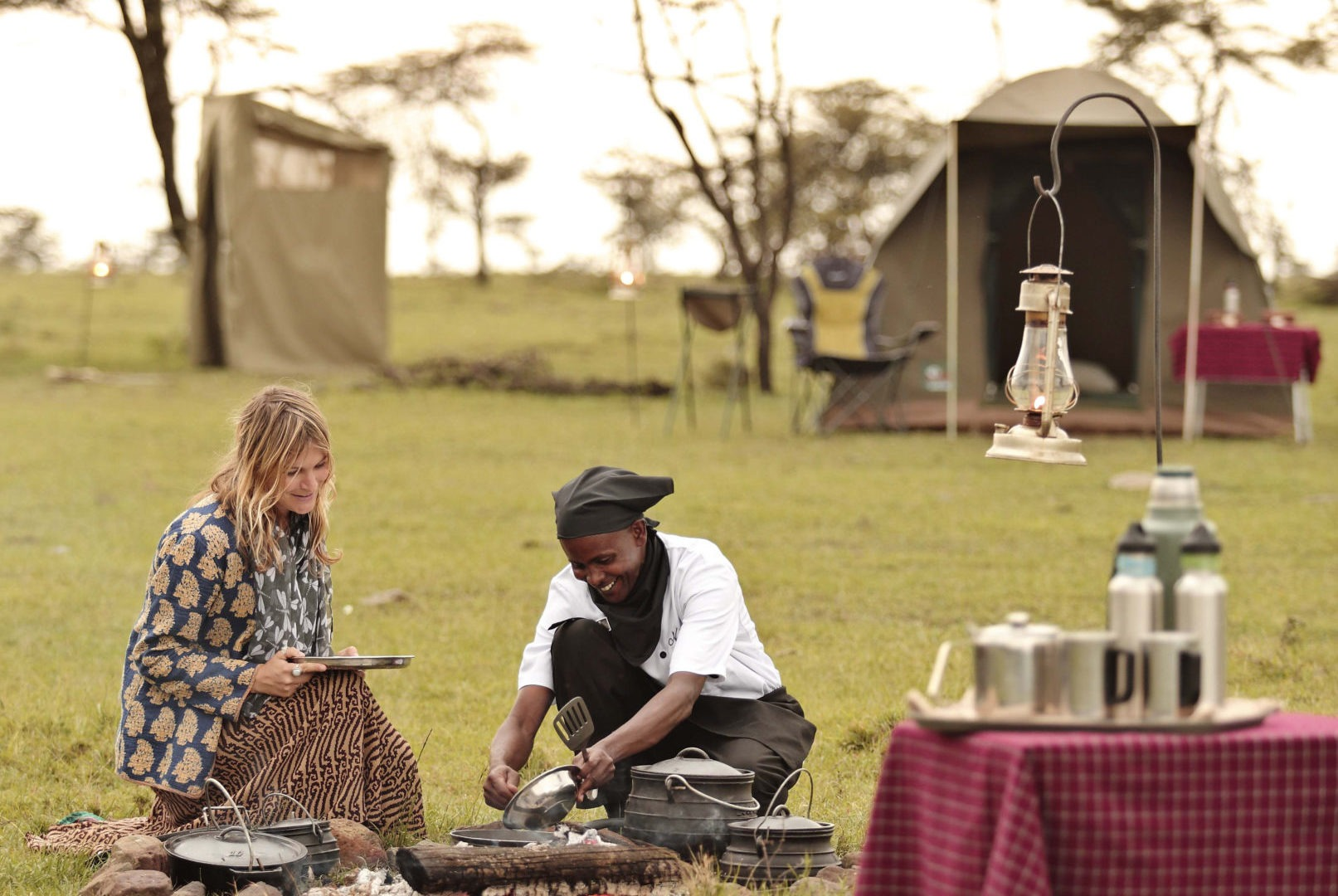 Naboisho Camp fly camping guest staff 1