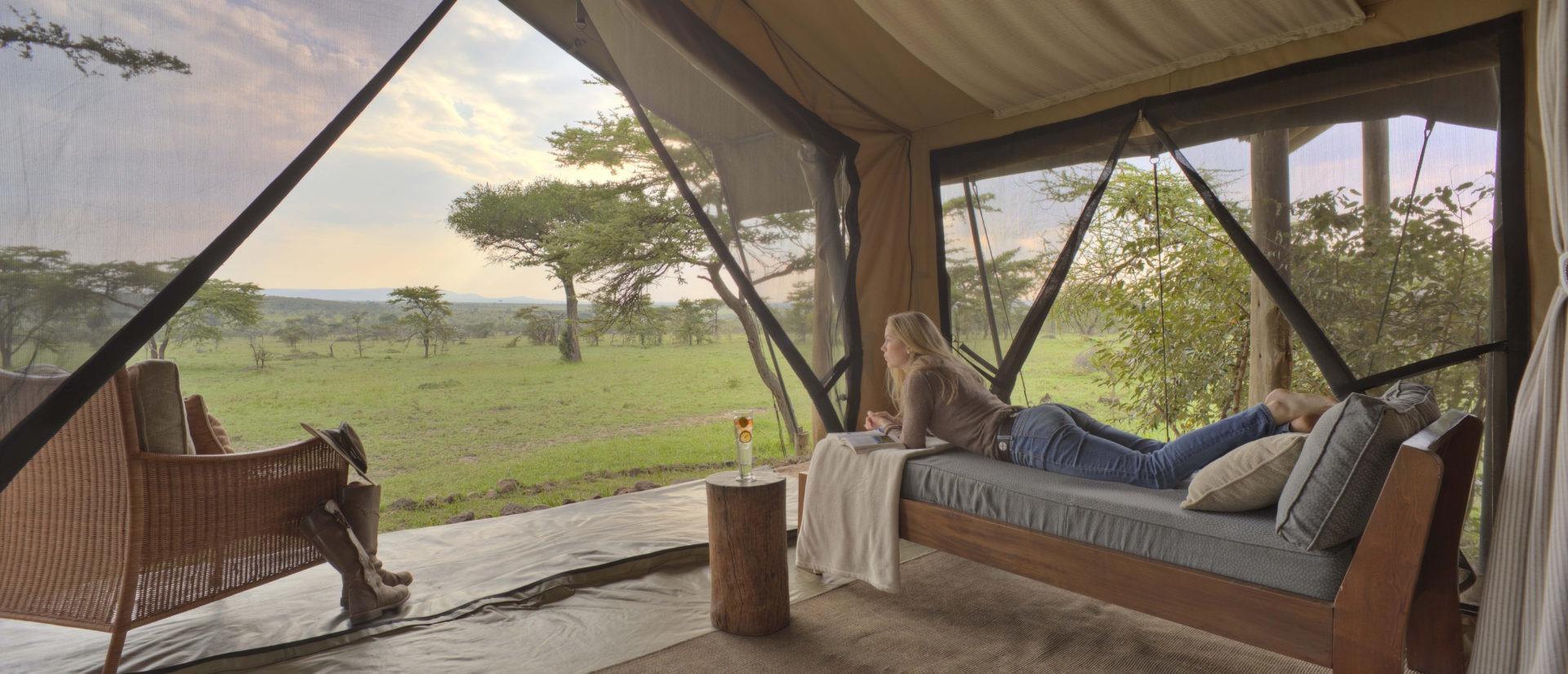 Naboisho Camp guest bedroom tent interior Stevie Mann 1 MR