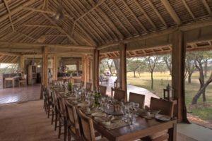 Naboisho Camp mess area dining 1