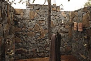 Naboisho Camp outdoor shower