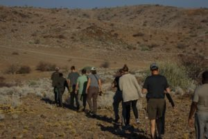 Rhino Tracking from Huab Under Canvas